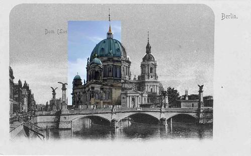 Berliner Dom 2 Pics vintage Postcard