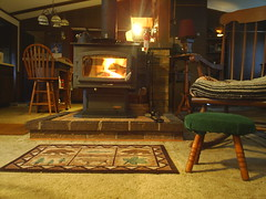 Warmth from the Hearth (sheribuch711) Tags: stone fire chair rocking stools rugs northwoods