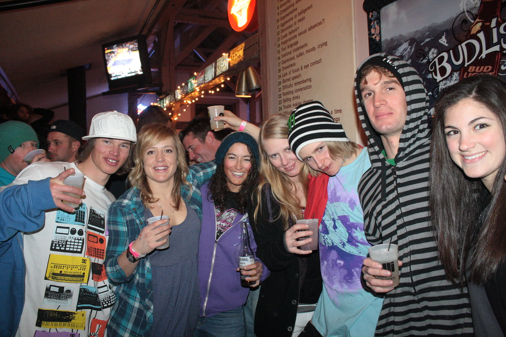 From the hill to the party, snowboarders Nate Kearn, Jenny Jones, Lynn Neil, Megan Ginter, Halldór Helgason and Sam Hulbert always keep good style
