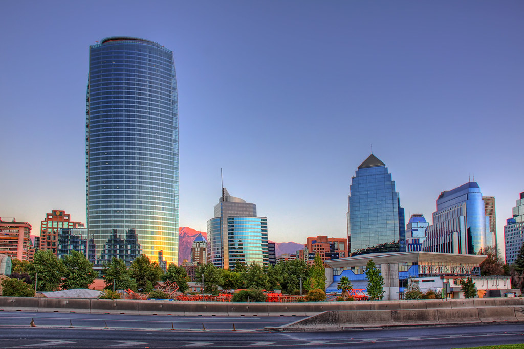 The tallest building of Santiago Chile