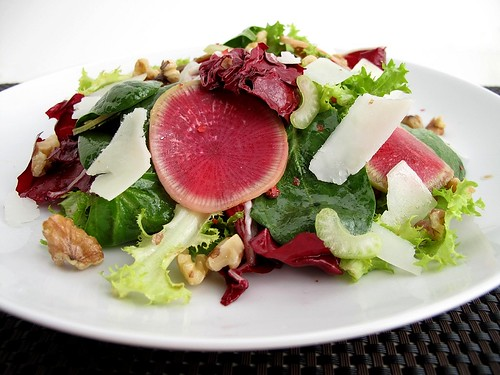 salad with watermelon radishes