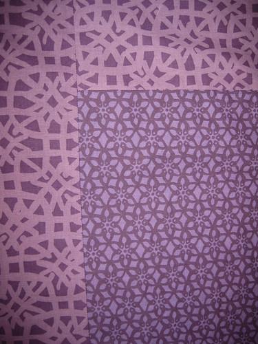 green violet quilt backing detail