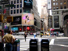 New York City (NC Mountain Man) Tags: street city newyorkcity people woman signs newyork man cars girl buildings shopping traffic crowd billboard timessquare stores stoplights taxicab advertise usmail ncmountainman phixe