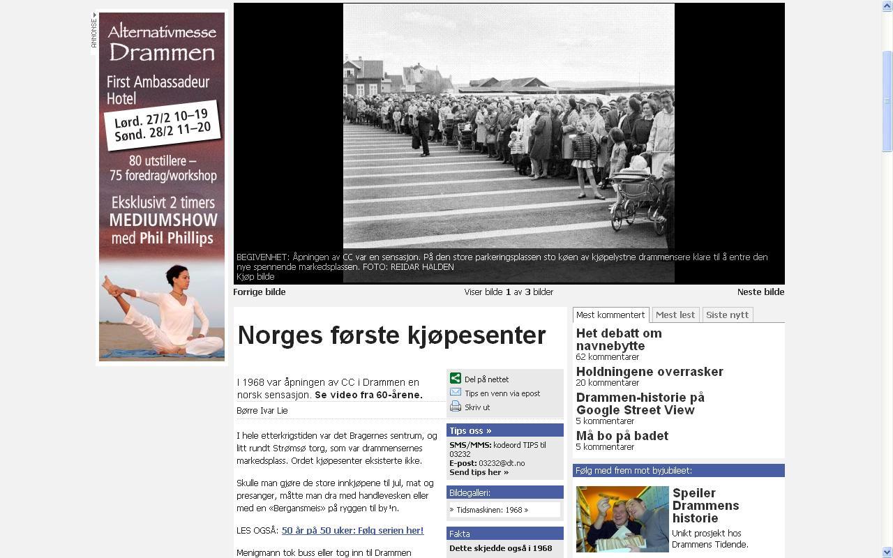 norges første kjøpesenter