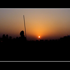 WALKING STICK (DEVENDRA PAL(AWAY)) Tags: sunset red sky people sun india black sports nature birds silhouette yellow festival photography photo dance punjab kila bhangra raipur abigfave flickrdiamond theunforgettablepictures