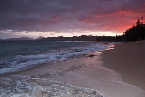 Sunset in Kapaa, Kauai, Hawaii, USA