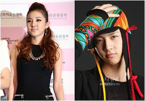 Sandara Park (2NE1) and brother Thunder (MBLAQ)