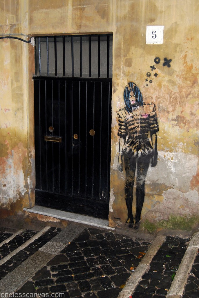 Stencil Graffiti Roma Italia.