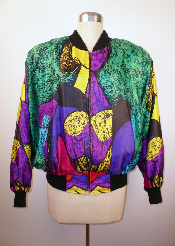 front_colorful_Picasso_print_ bomber-style_jacket