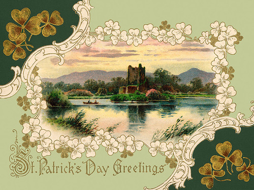 Ross Castle, Killarney, Ireland - a 1913 Saint Patrick's Day illustration