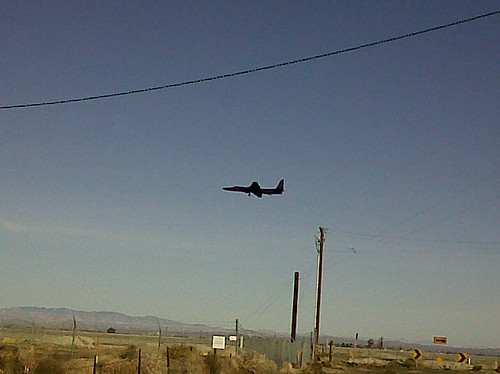 U2 Spy Plane doing touch and go's at Air Force Plant 42, Palmdale, California