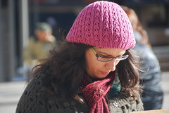 Pink (Let Ideas Compete) Tags: madrid pink people espaa woman spain faces spanish cap persons iberia iberian thisislife