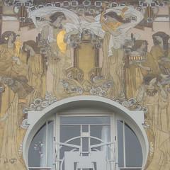 Cauchiehuis, Etterbeek (Erf-goed.be) Tags: geotagged artnouveau brussel etterbeek frankenstraat archeonet paulcauchie architectenwoning geo:lat=508384 maisoncauchie cauchiehuis geo:lon=43954