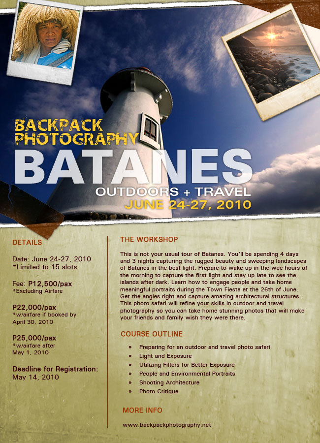 Batanes OUTDOOR + TRAVEL Workshop June 24-27, 2010