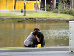Lovers (Roving I) Tags: love kissing couples australia melbourne lovers cuddles embraces bumcrack riveryarra