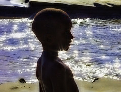 Sparkling (stmoritz1960) Tags: boy sea playing beach nature water silhouette sand grenada donnel lasagesse stmoritz1960
