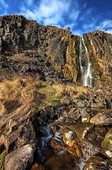 Quarry Waterfall (2) (shylands) Tags: ireland light nature river landscape waterfall rainbow rocks cliffs hills northern quarry glenside