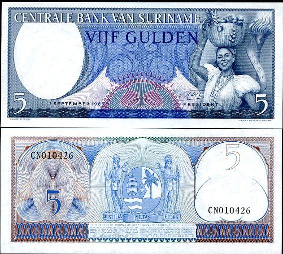5 Guldenov Surinam 1963