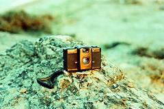 Leela (almogaver) Tags: film stone analog 35mm lomo lca xpro pentax crossprocess 200asa lomolca pedra camara roca sensia fujisensia fujisensia200asa p30 pentaxp30 almogaver procéscreuat fiuji
