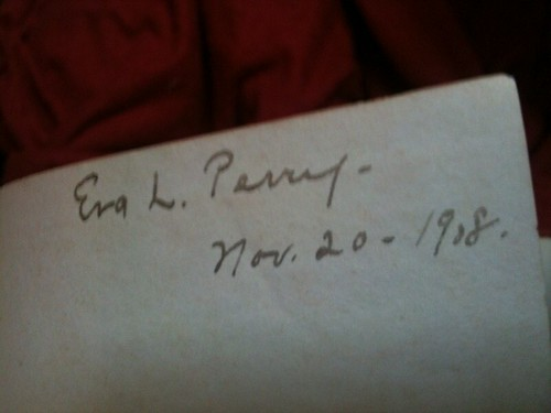 Inscription in Aunt Eva's Jane Eyre - 1908