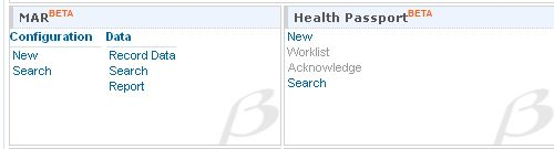 Screenshot of MAR & Health Passport