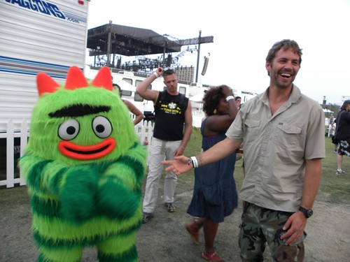 Paul Walker and Brobee Having a Laugh