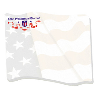 Promotional Items-Bic® Adhesive Die Cut Notepads ( Waving Flag Shape ) 3265W