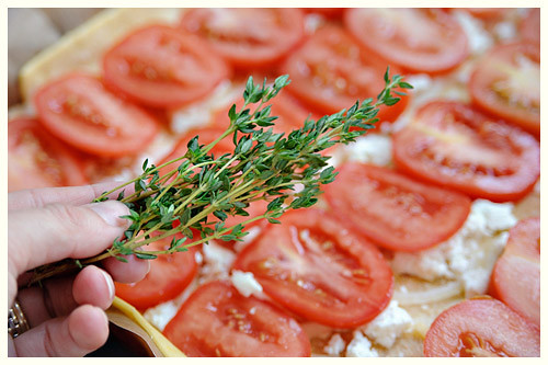 Tomato, Goat Cheese and Onion Tart