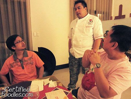 Chef JJ telling us more about Perfect Italiano and Pinoy Eats World's guerilla or Mystery Dinners - CertifiedFoodies.com