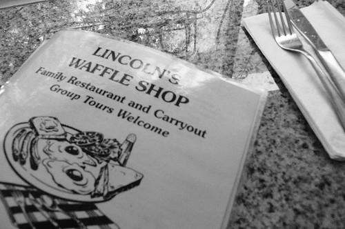 lincoln's waffle shop menu