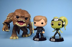 Funko Pop! Rancor with Luke Skywalker & Slave Oola (Previews Exclusive) bobble-heads (FranMoff) Tags: jedi funkopop lukeskywalker funko exclusive previews bobbleheads rancor oola px