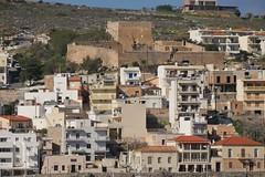 Kazarma fortress above the town of Sitia Crete