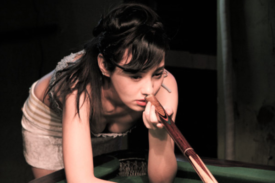 Sexy chinese model  & Snooker
