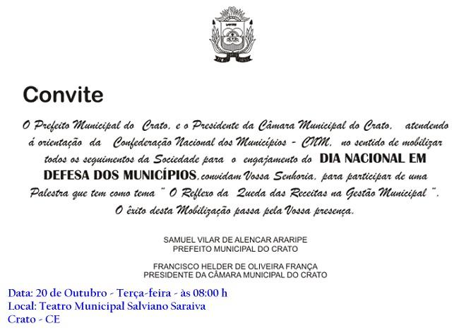convite samuel CNM