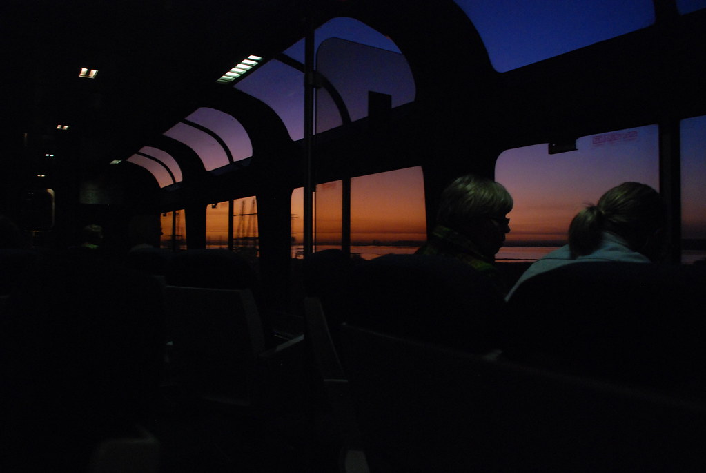 Sunrise in the Lounge Car