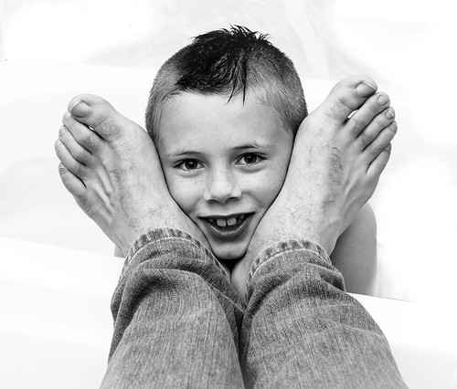 h with dad's feet
