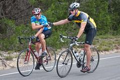 Handshake (benrobertsabq) Tags: bike bicycle cycling cyclist athlete cancersurvivor amputee brettweitzel livestrongchallengeaustin2009