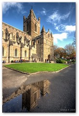 Christchurch (Reflection) (Mick h 51) Tags: autumn ireland christchurch dublin reflection church canon puddle eos cathedral hdr leinster 450d