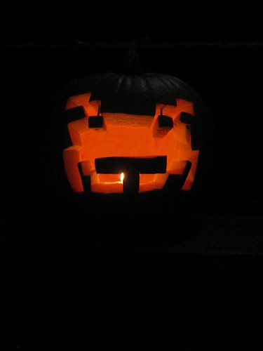 Space Invader pumpkin