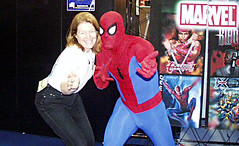 Patty Mooney with Spider Man, San Diego Comic ...