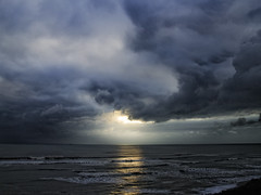 Sunspot (Steve is the Coolest) Tags: england sky cloud sun sunlight colour beach nature wet water clouds photoshop coast seaside nikon surf waves moody south solent southcoast wight