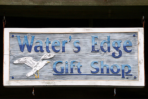 Water's Edge Gift Shop Sign