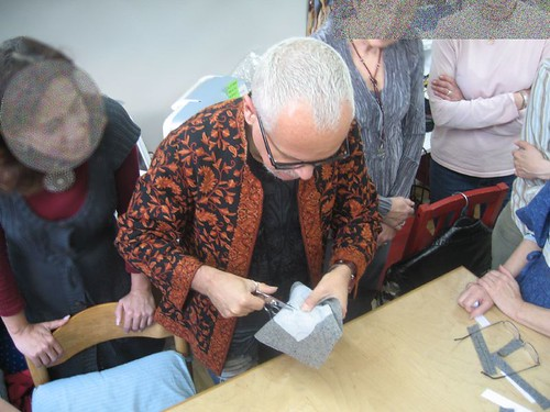 Kenneth King demonstrating bound buttonhole technique