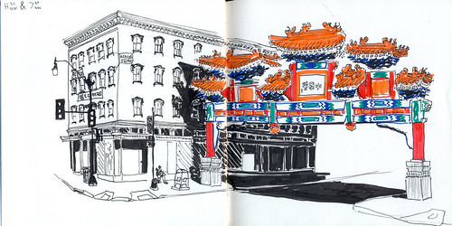 chinatown gate colored