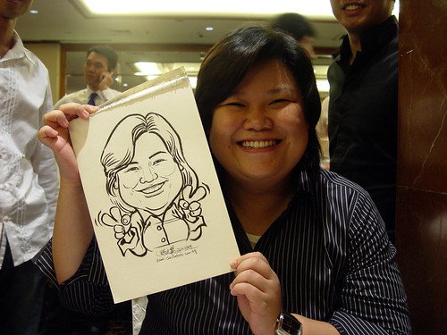 Caricature live sketching for wedding dinner 221109 - 15