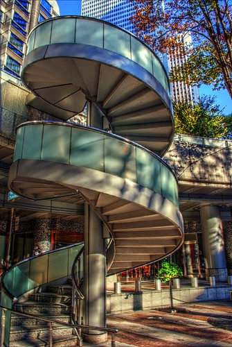 Spiral stairway (Shinjuku)