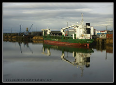 River Trent (Paul Simpson Photography) Tags: uk england reflection water river boat still ship calm cargo lincolnshire trent wwb gunness rivertrent humberside cargoe