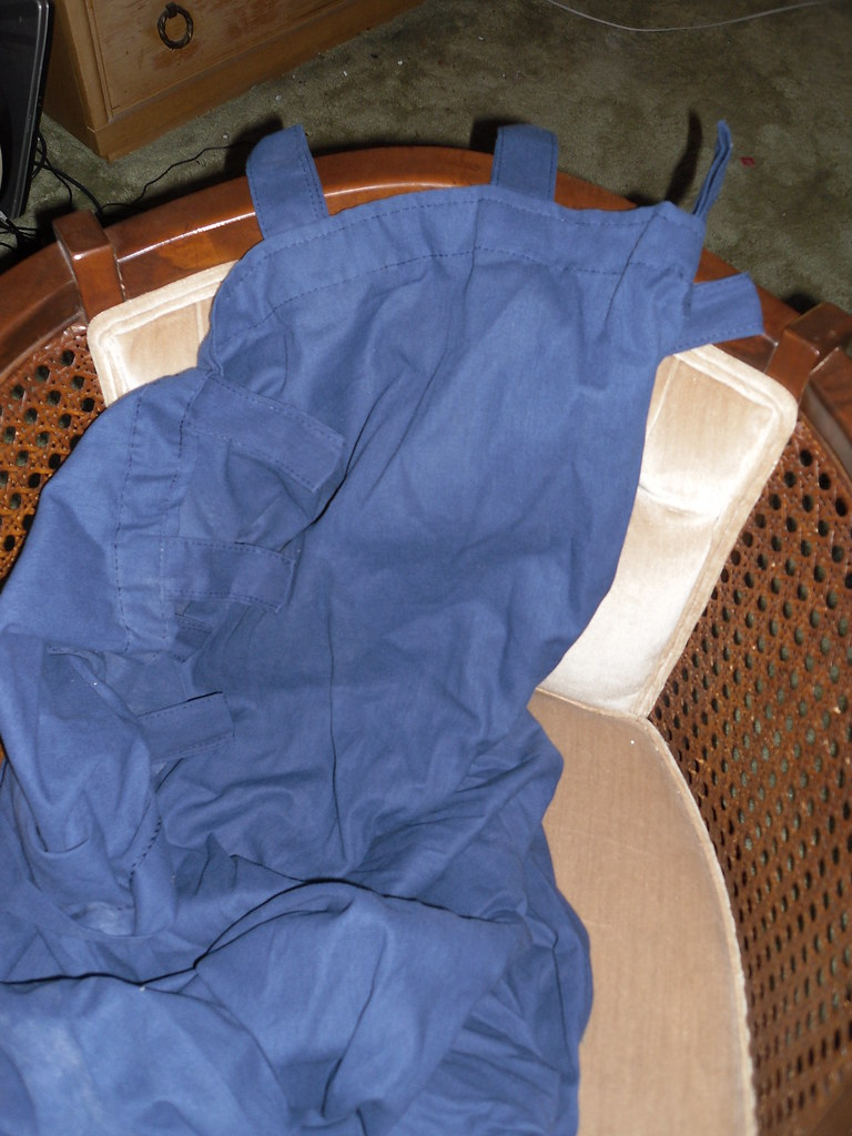 NEW blue drape 2 panels 42