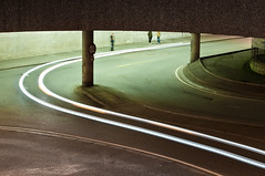 Streak (John Erik) Tags: road street city bridge people cars oslo norway night 50mm lights nikon streak streetlights tunnel d300 nikkor50mm14 50mmf14af nikon50mm