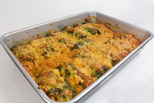 PAN Turkey Cheddar  and Kale Stuffed Collard Leaves